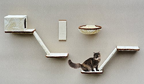 SILVIO DESIGN, Katzen-Kletterwand 8-teilig beige,...