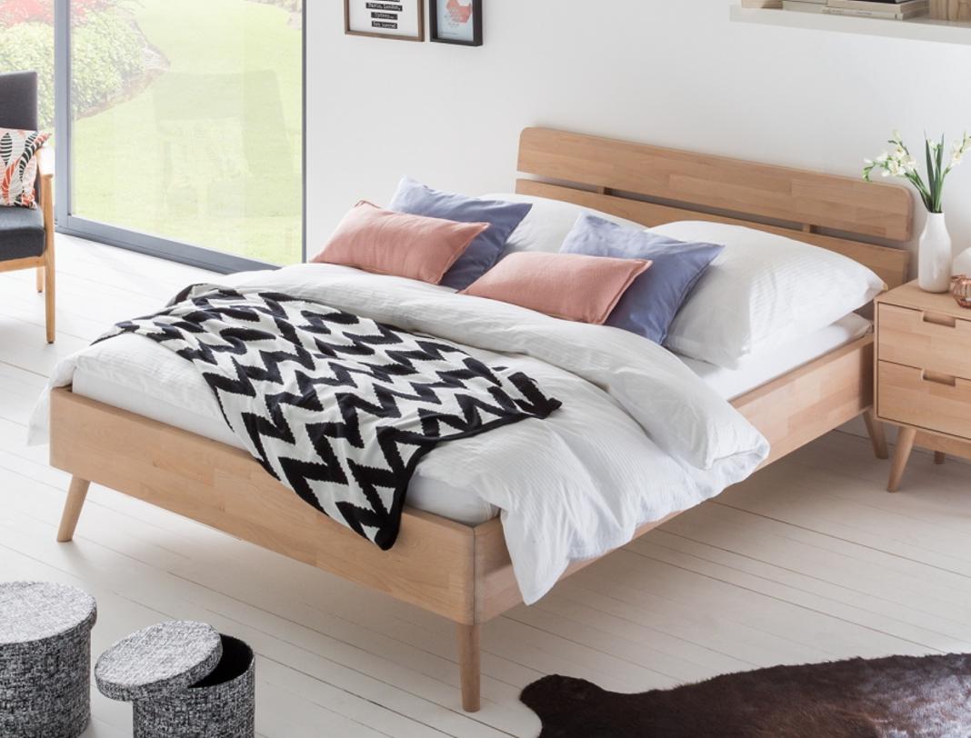 morteens bett finsby buche massiv 140 x 200cm 7roomz. Black Bedroom Furniture Sets. Home Design Ideas