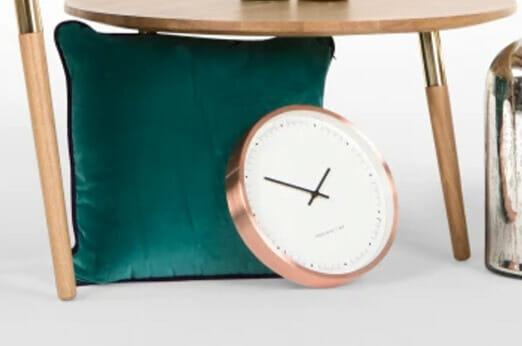 aurelia wanduhr kupfer 7roomz. Black Bedroom Furniture Sets. Home Design Ideas