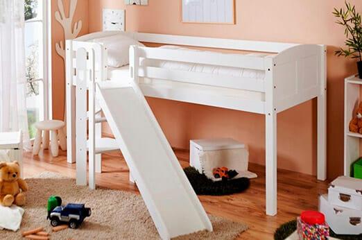 ticaa hochbett lino mit rutsche 7roomz. Black Bedroom Furniture Sets. Home Design Ideas