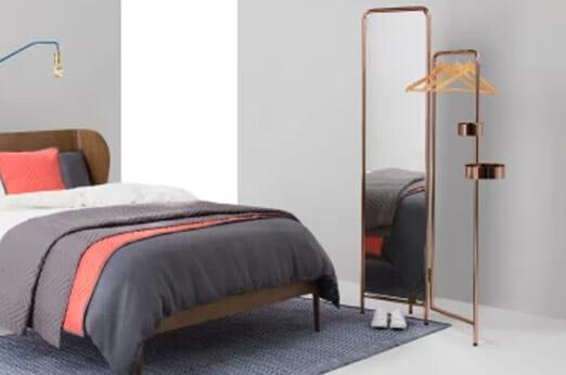 alana kleiderst nder mit spiegel kupfer 7roomz. Black Bedroom Furniture Sets. Home Design Ideas