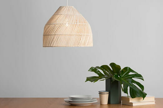 Java Lampenschirm aus Rattan