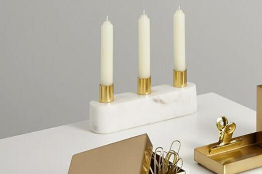Elisa Kerzenleuchter weißer Marmor