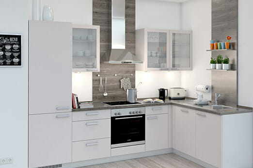 L-Küche Norina 1351 Seidengrau