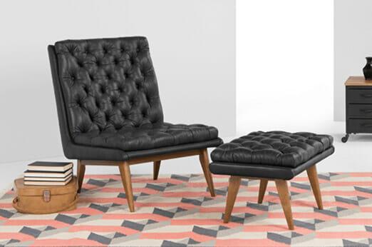 Spectre Sessel mit Hocker
