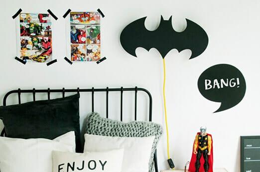 Nobobobo Nachtlampe Holz Batman