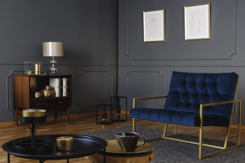 Art Deco Wand mit Sessel