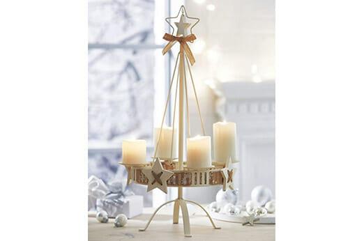 Adventskranz Kerzenständer White Christmas
