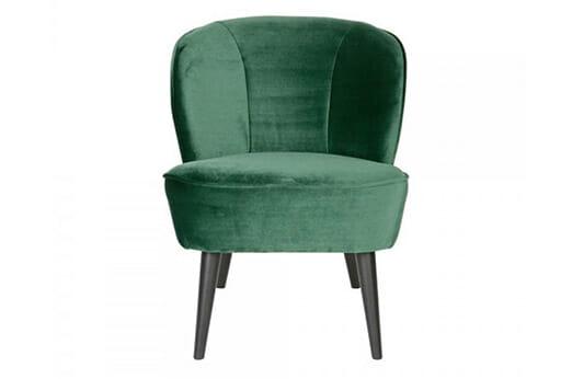 Stoff Sessel in Grün Retro Design