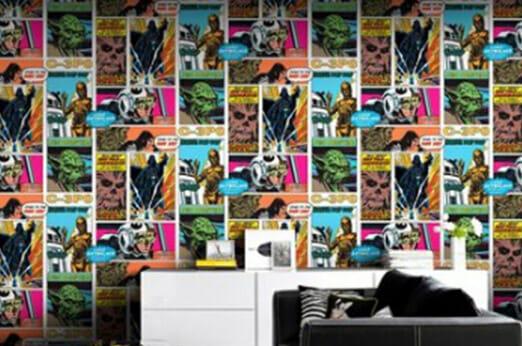 Fototapete Star Wars Pop Art Collage