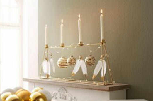 INGE-GLAS® Kerzenständer gold