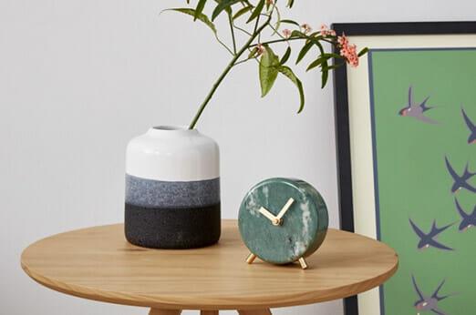 Cullen Tischuhr grüner Marmor