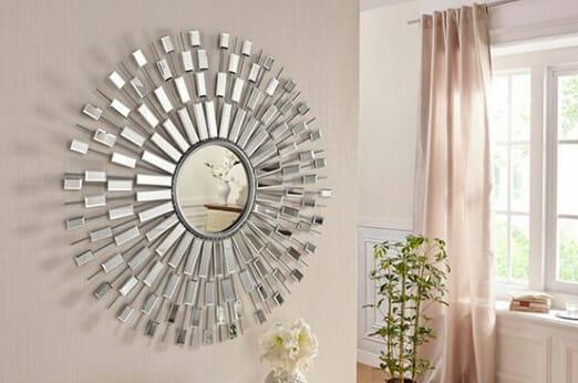 home affaire wanddeko spiegel silberfarben 7roomz. Black Bedroom Furniture Sets. Home Design Ideas