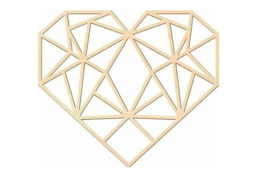Holzkunst Pappel Origami Herz