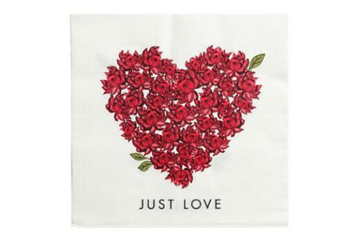 JUST LOVE Papierservietten