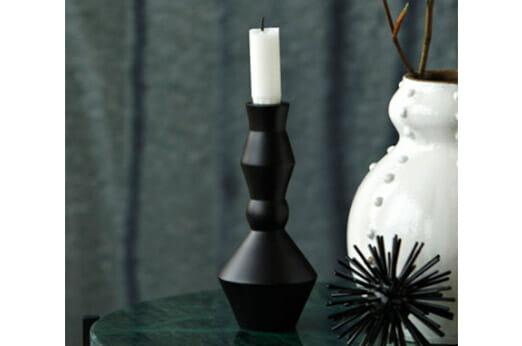 Kerzenständer Alu Schwarz