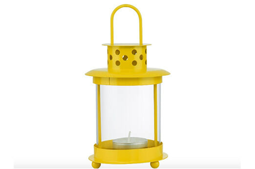BUTLERS Mini-Laterne gelb