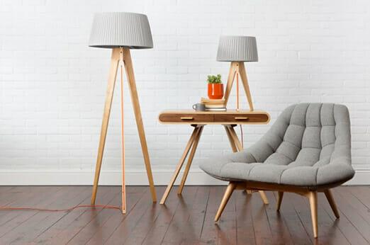 Miller Stehlampe Holz
