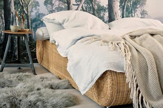 Ronda Bett aus Rattan