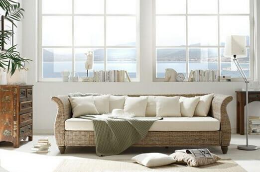 Sofa aus Kubu-Rattan Lunga