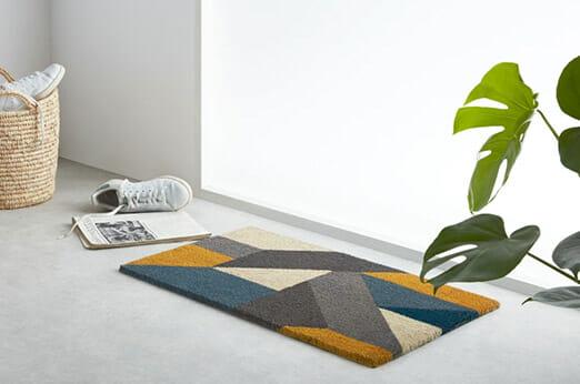 Holden Fußmatte Blau und Gelb