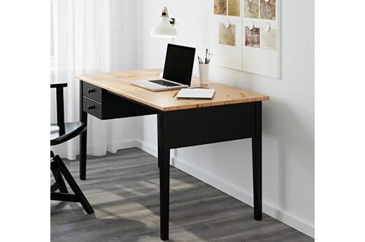 ARKELSTORP Schreibtisch schwarz