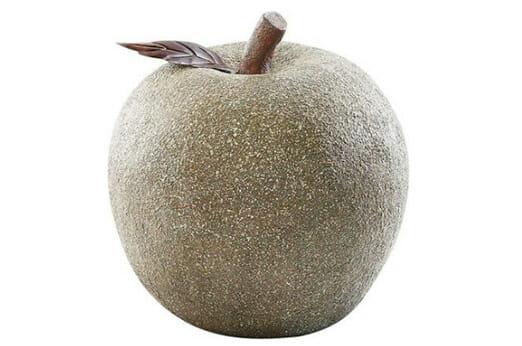 Gartendeko Apfel grau