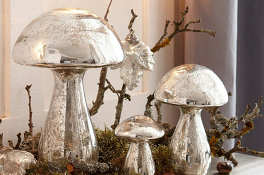 Loberon Deko-Pilze Périgord silber