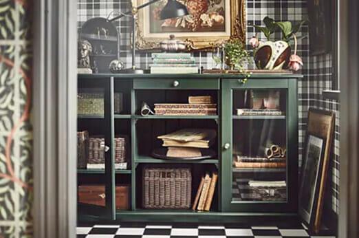 LIATORP Sideboard dunkel olivgrün