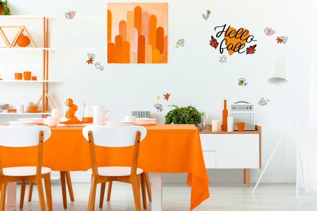 Herbstfare Orange Esszimmer Galerie2
