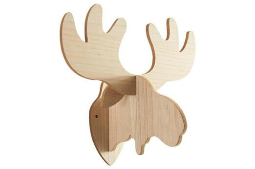 Elchkopf Silhouette Holz