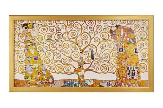 Wandbild KLIMT Der Lebensbaum braun
