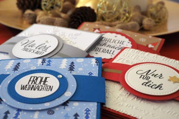 Weihnachtskarten basteln Vorschau