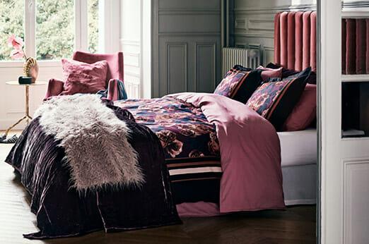 Baumwollbettwäsche Washed rosa