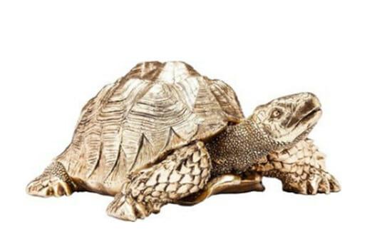 Deko Figur Turtle gold