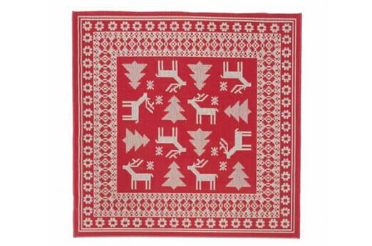 Teppich Weihnachtsteppich rot