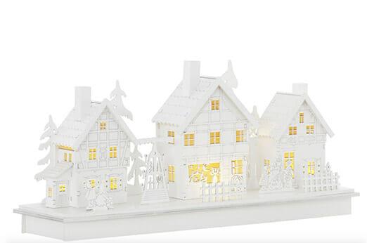 Beleuchtetes Weihnachtsdorf weiß