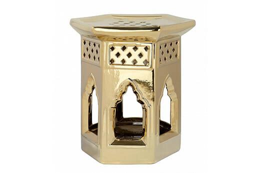 Keramikhocker Marokkanisch gold