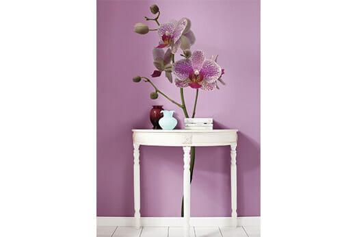 """Wandsticker """"Orchidee"""" lila"""