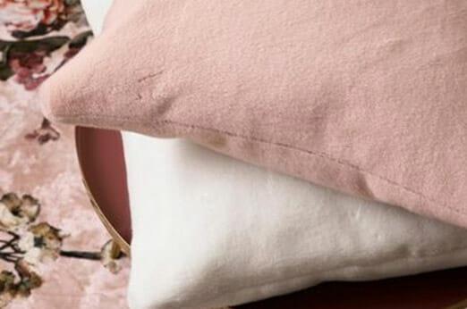 Dekokissen Furry Samtoptik rosa
