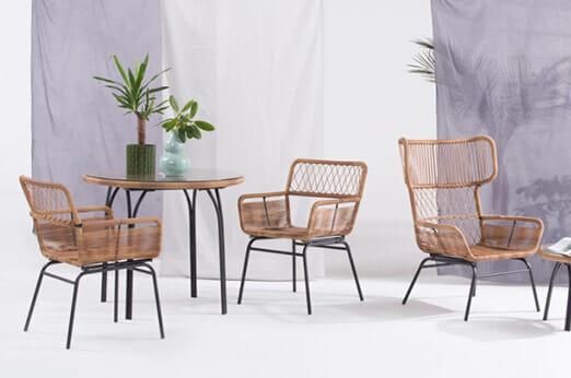 Lyra 2 x Gartenstühle schwarz