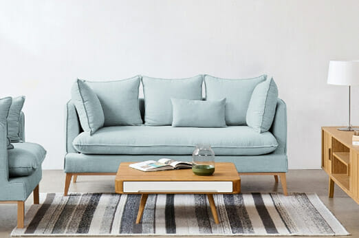 Sofa Sulviken (3-Sitzer) Webstoff hellblau