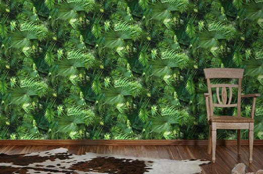 Tapete Palmenprint Dschungel grün