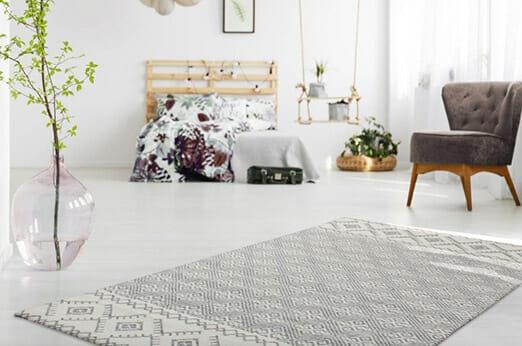 Teppich Mirage weiß/grau