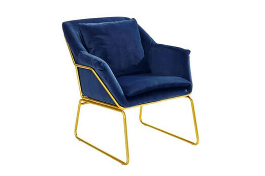 Stuhl Samtoptik blau