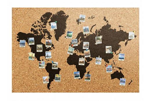 Bild Weltkarte Polaroids