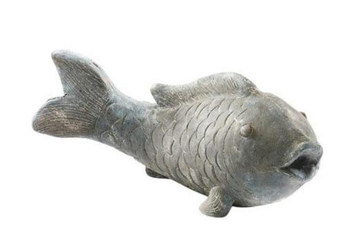 Gartendeko Fisch grau