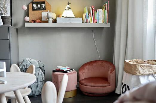Bordeaux Sessel Samt Pink