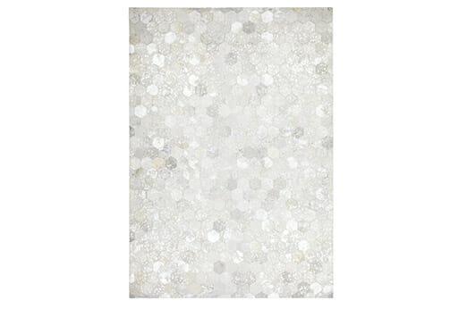 Teppich Spark Patchwork-Leder silber