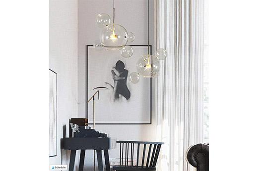 Nordic LED Pendelleuchte Glas Ball